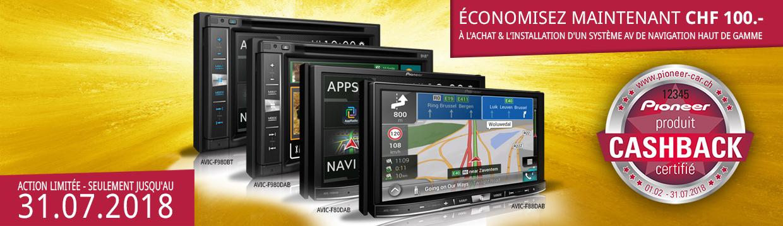 Action AVIC Cashback - CHF 100.- de retour lors de l'achat, installation incluse