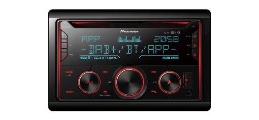 Bluetooth DAB Pioneer fh-x840dab 2-din digital radio CD USB Spotify autorradio