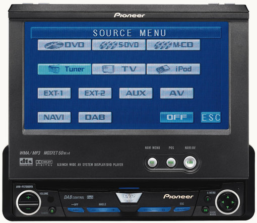 Pioneer avhp5700dvd in-dash 6. 5 monitor dvd player manuals.