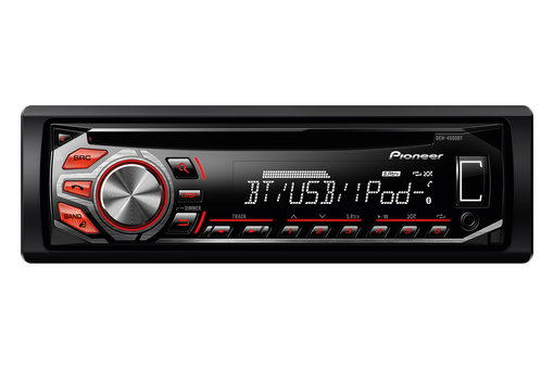 Pioneer deh-x4600bt car stereo display and controls demo.