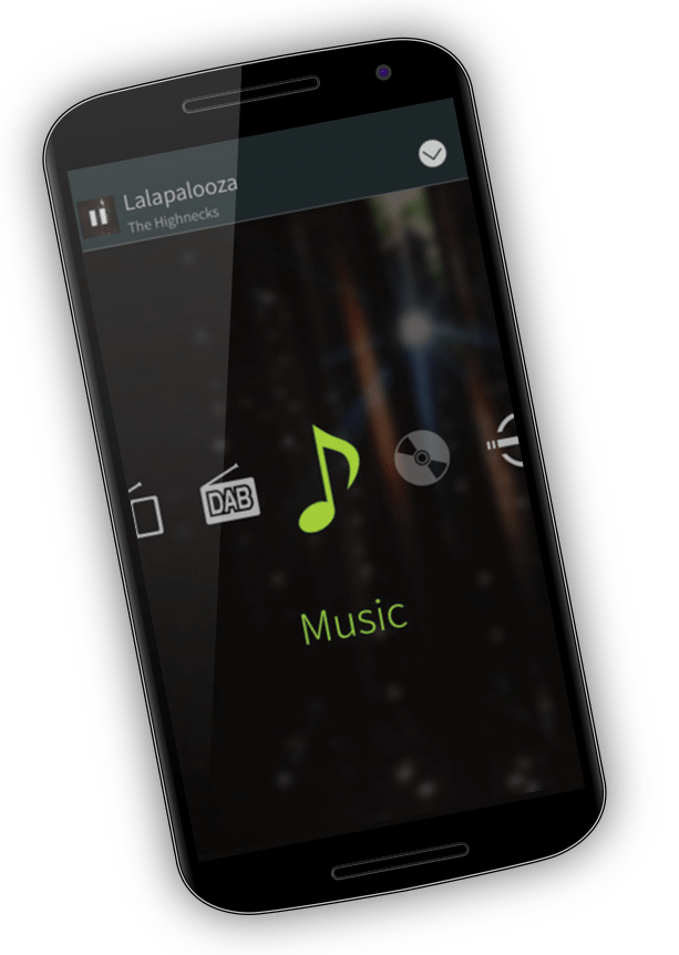 Pioneer ARC - change audio source - android device screenshot