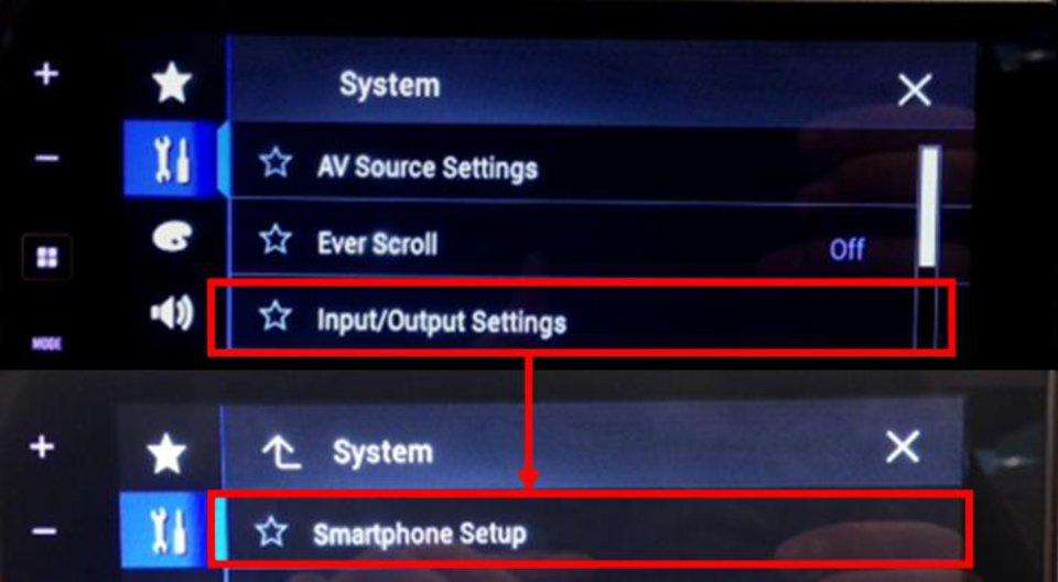 Smartphone setup